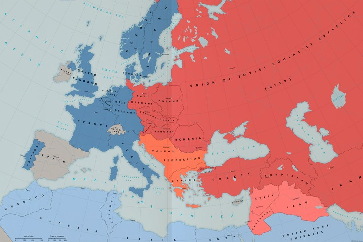 Alternate Cold War map