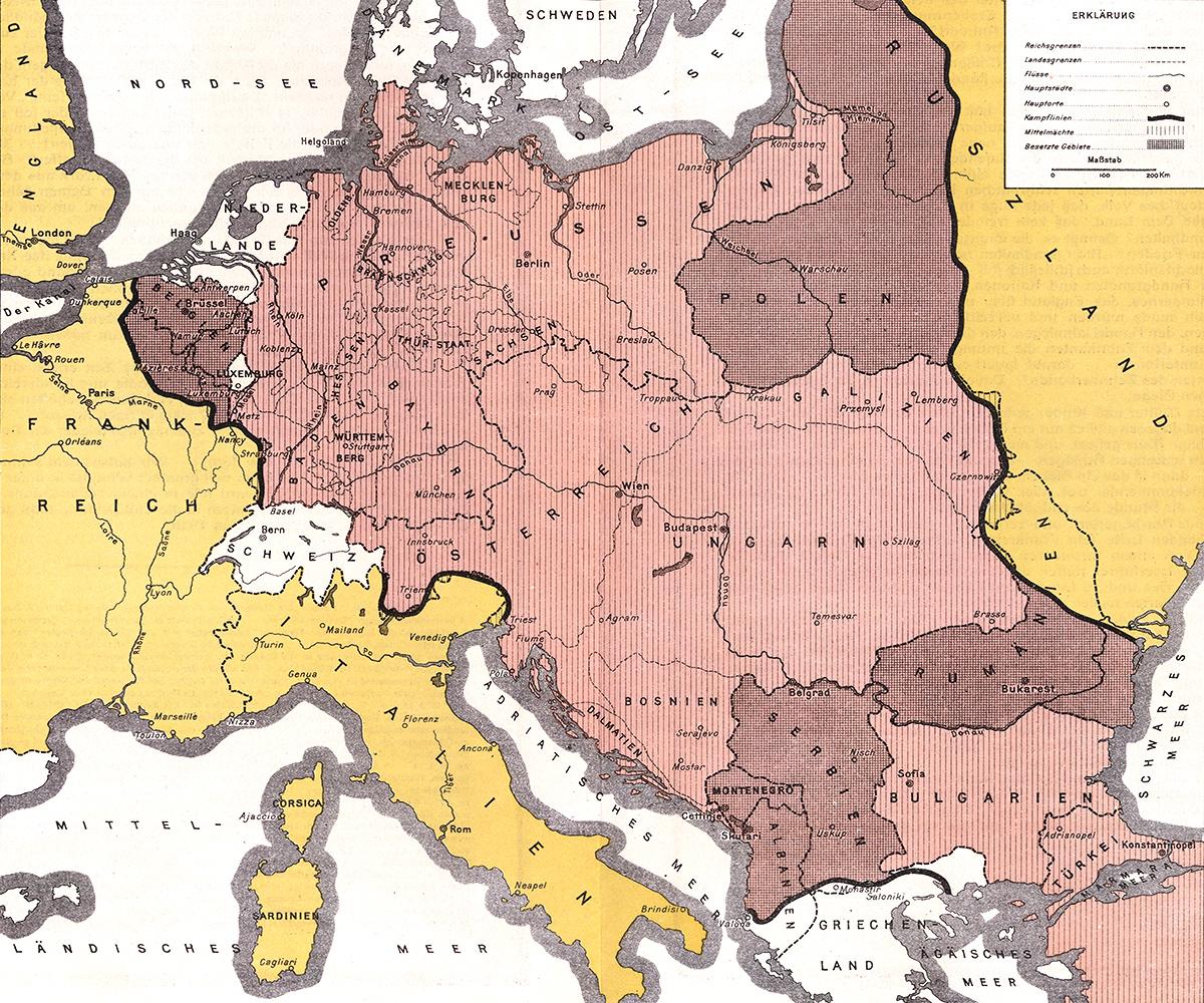 German Empire 1916 map