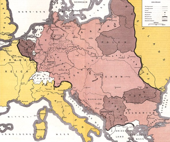 German Empire 1916 map