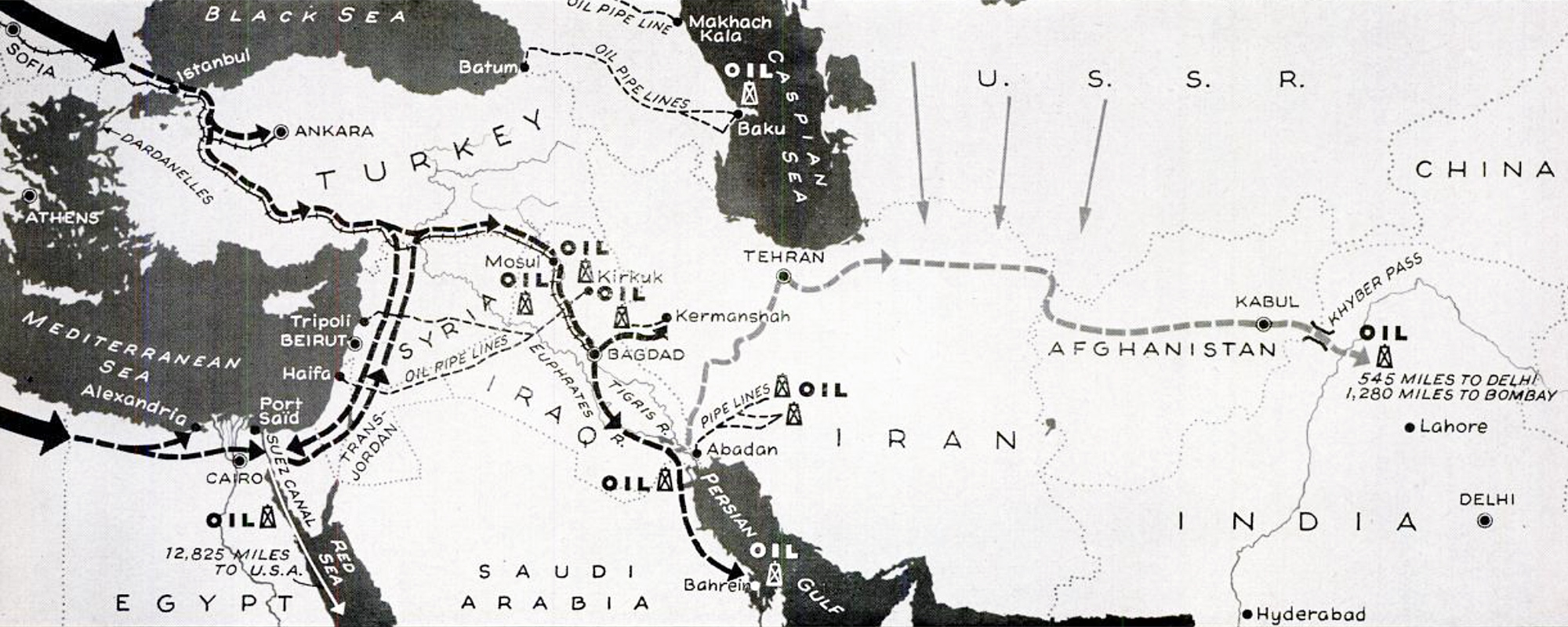 German invasion Middle East map