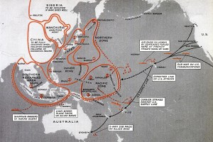 Japanese war plans map