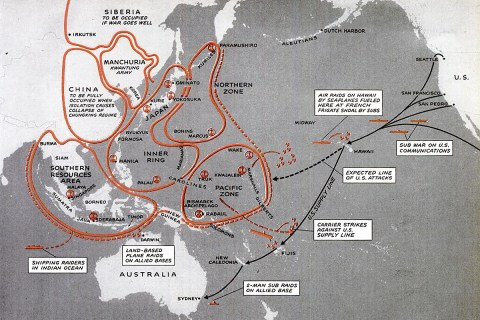 Japanese war plans map