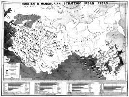 1945 Soviet Union Manchuria map
