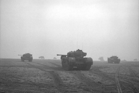 British tanks in Normandy