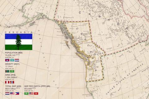 Cascadia map