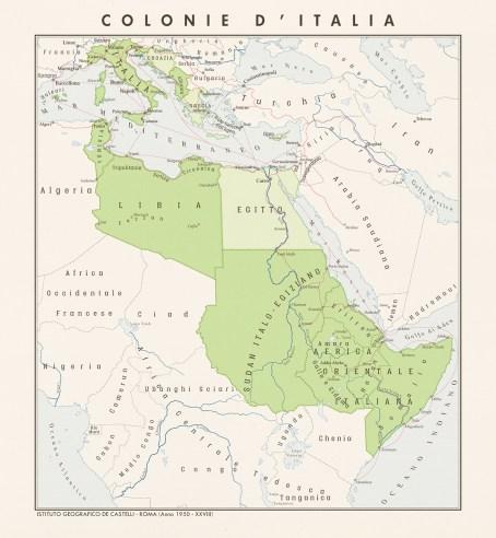 Italian Empire map