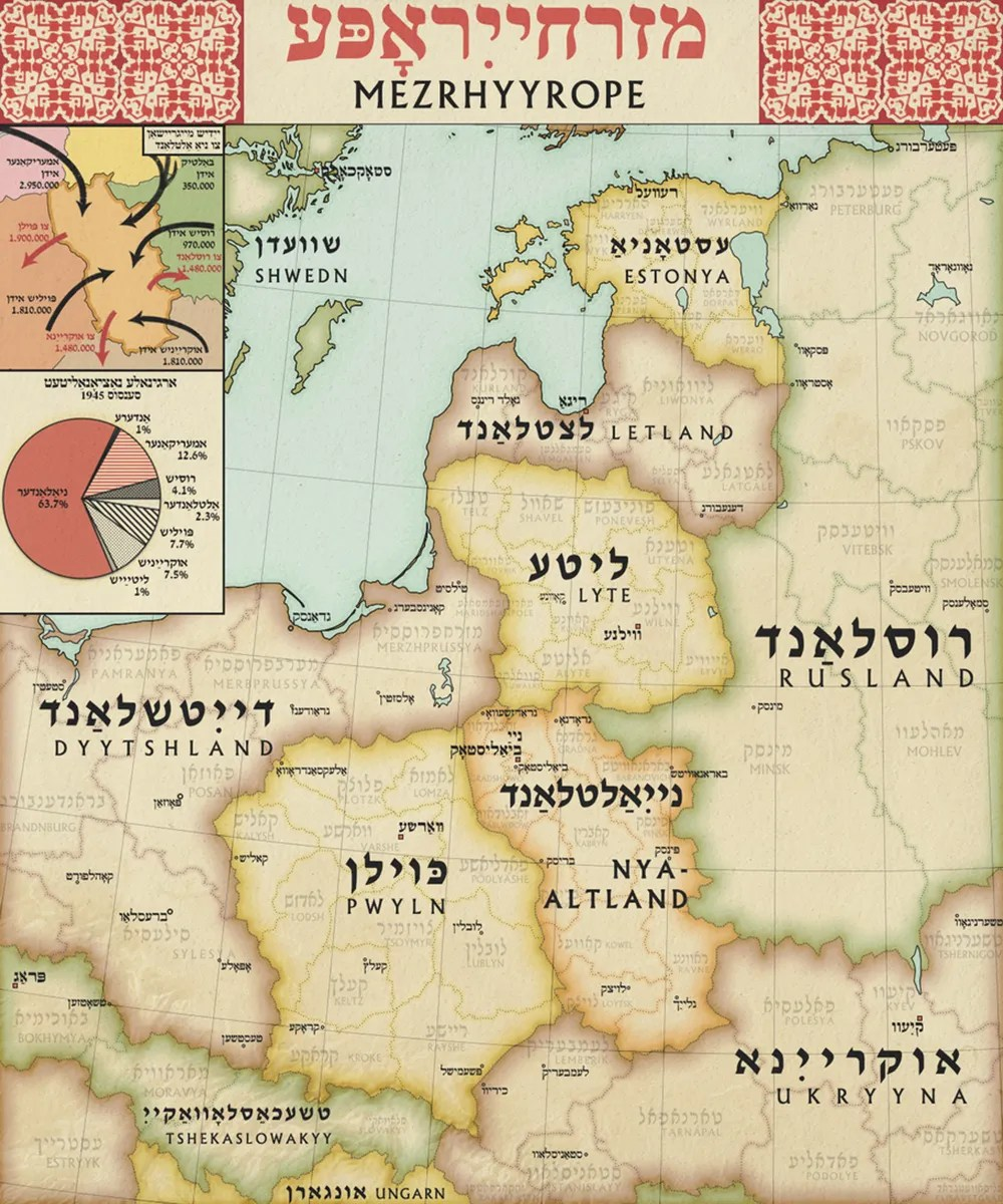 Jewish state map