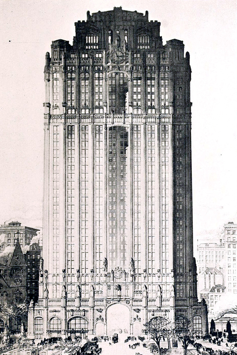 Manhattan Municipal Building by Howells and Stokes
