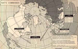 NATO commands map