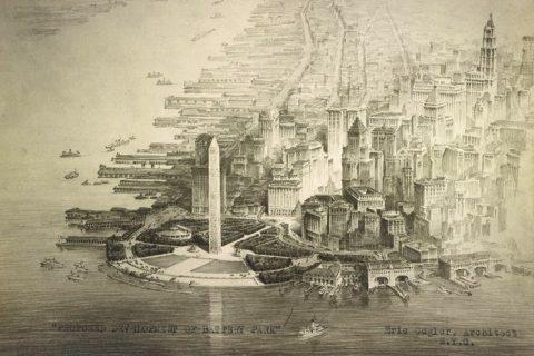 New York Battery Park Obelisk design