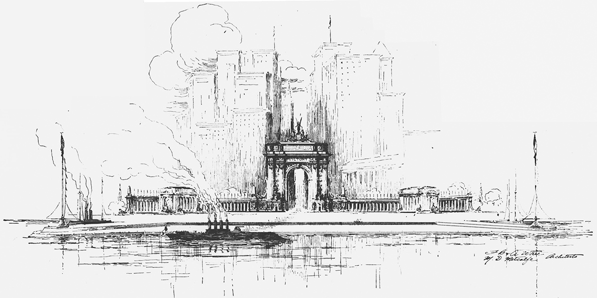 New York Water Gate by Ware and Metcalfe