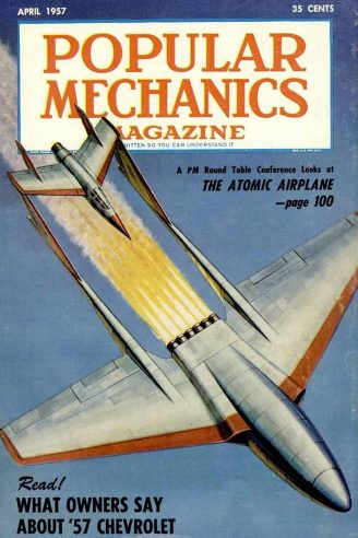 Popular Mechanics April 1957 cover