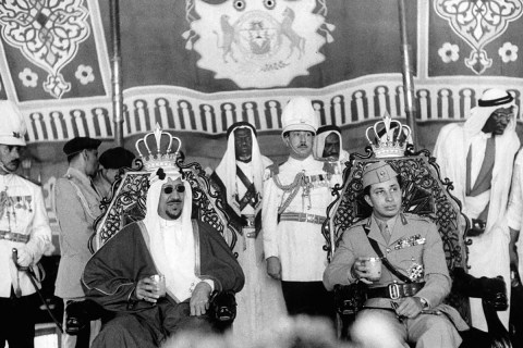 Saud of Saudi Arabia Faisal II of Iraq