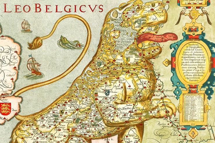 Low Countries map
