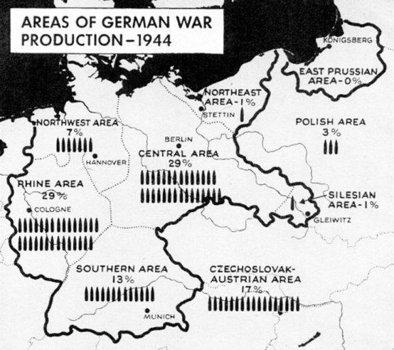 Germany war production map