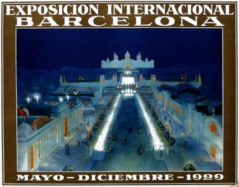 1929 Barcelona International Exhibition poster