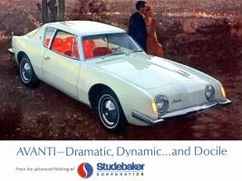 1963 Studebaker Avanti advertisement