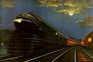 Pennsylvania Railroad S1 train art