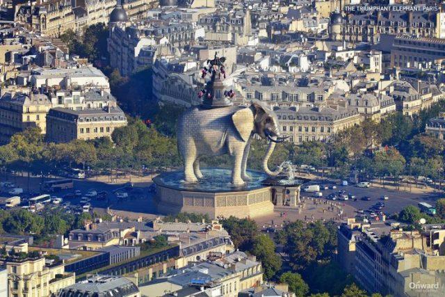 Triumphant Elephant Paris