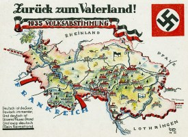 1935 Saarland Germany postcard