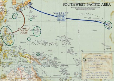 Japan invasion map