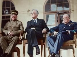 Joseph Stalin Franklin Delano Roosevelt Winston Churchill