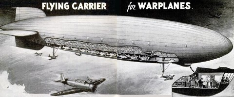 Flying carrier cutaway