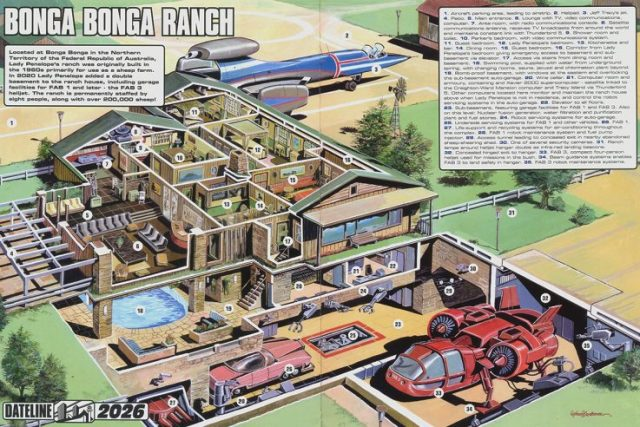 Thunderbirds Bonga Bonga Ranch cutaway