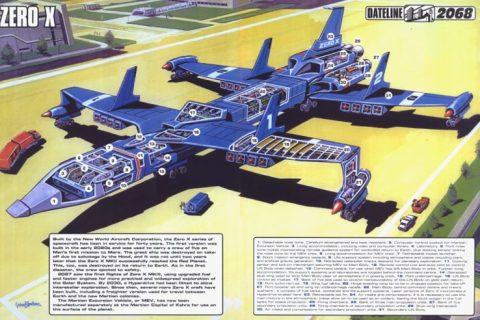 Thunderbirds Zero X cutaway