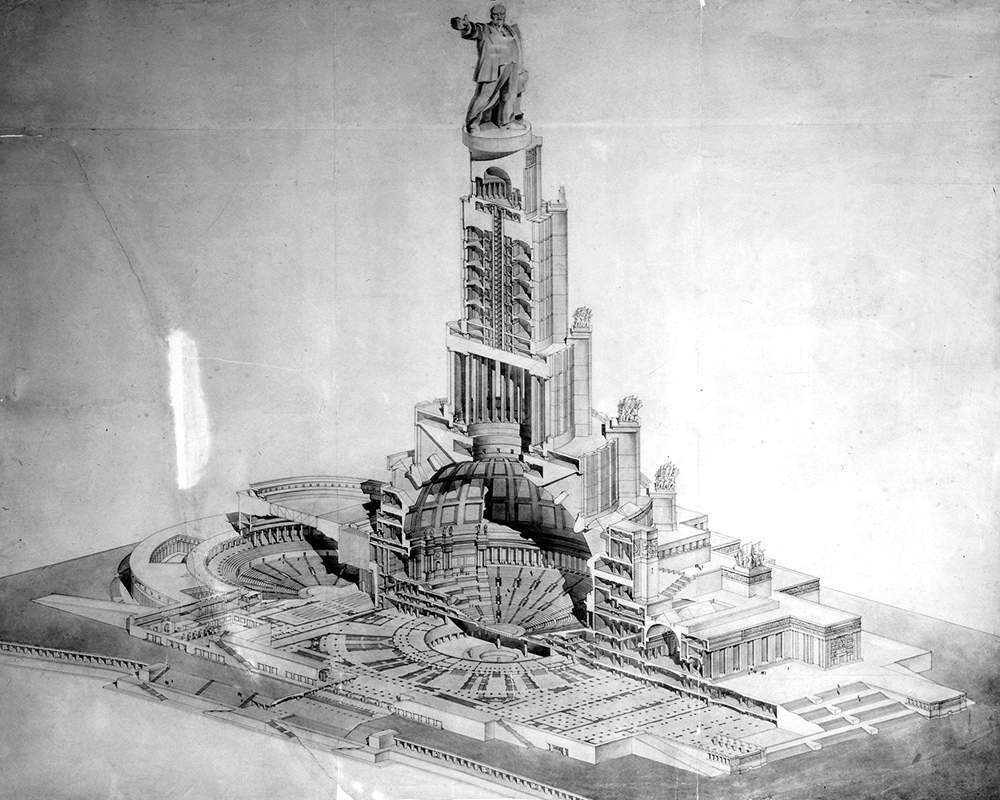 Palace of the Soviets Moscow Russia cutaway