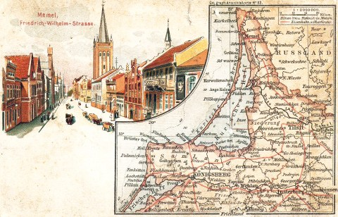 1918 Memel Germany postcard