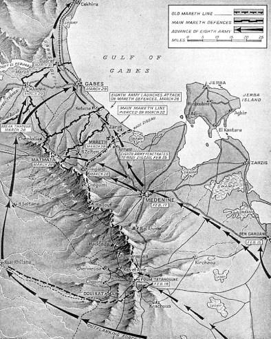 1943 Tunisia map