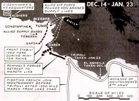 Allied invasion Tunisia map
