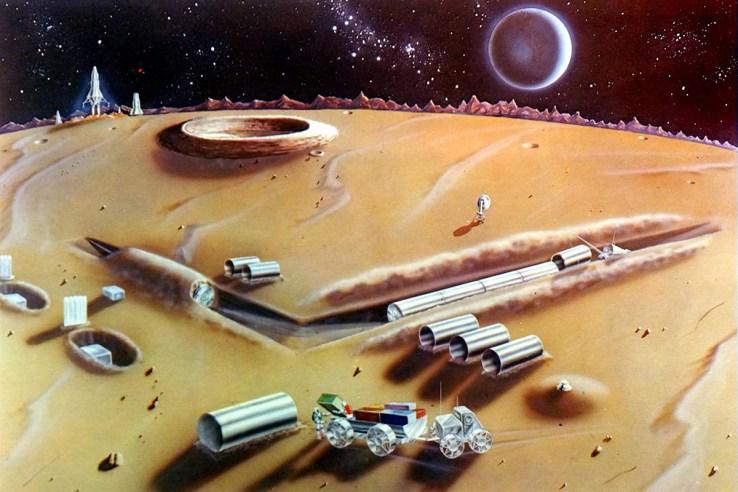 American Moon base