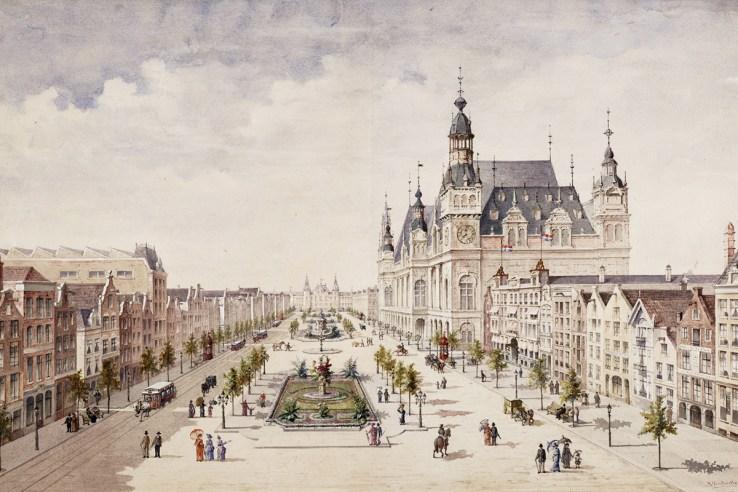 Amsterdam Damrak Boulevard design