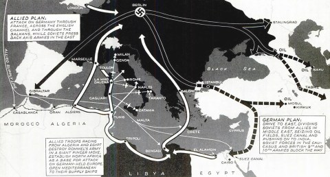 Mediterranean war plans map