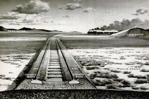 Sahara railway art