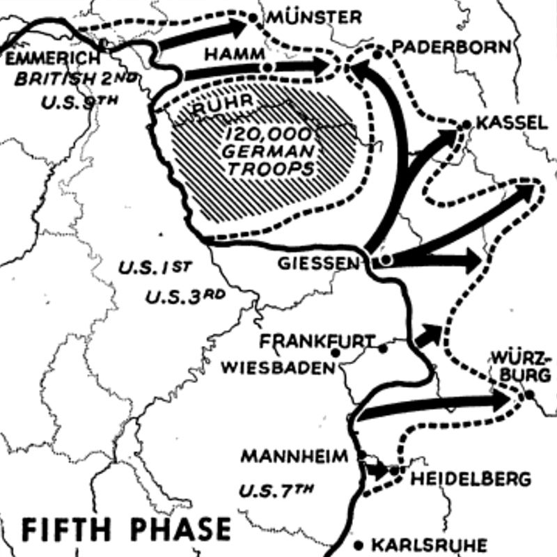Allied invasion Germany map