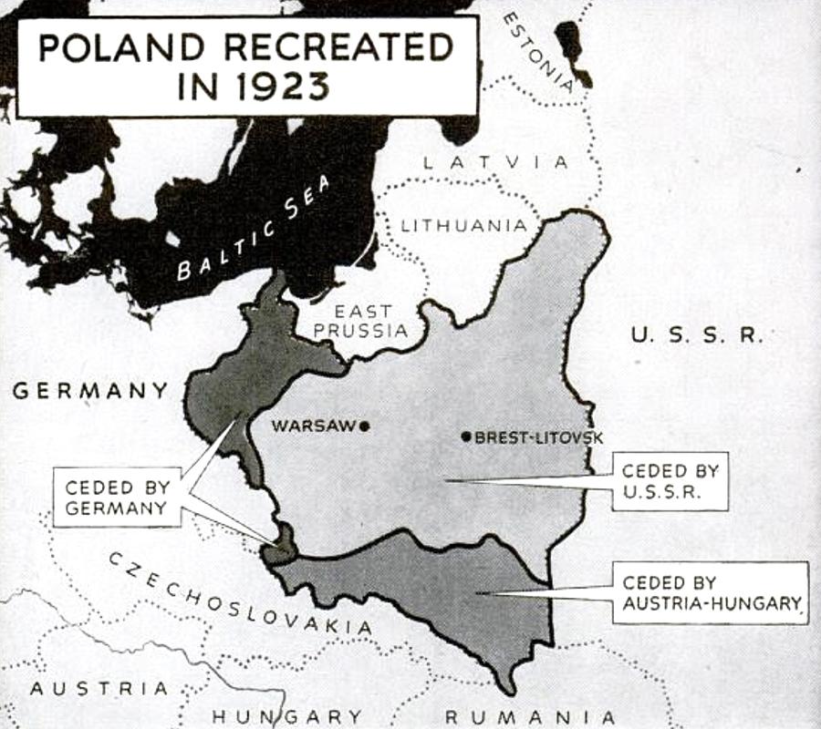 Poland 1923 map
