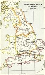 Anglo-Saxon Britain map