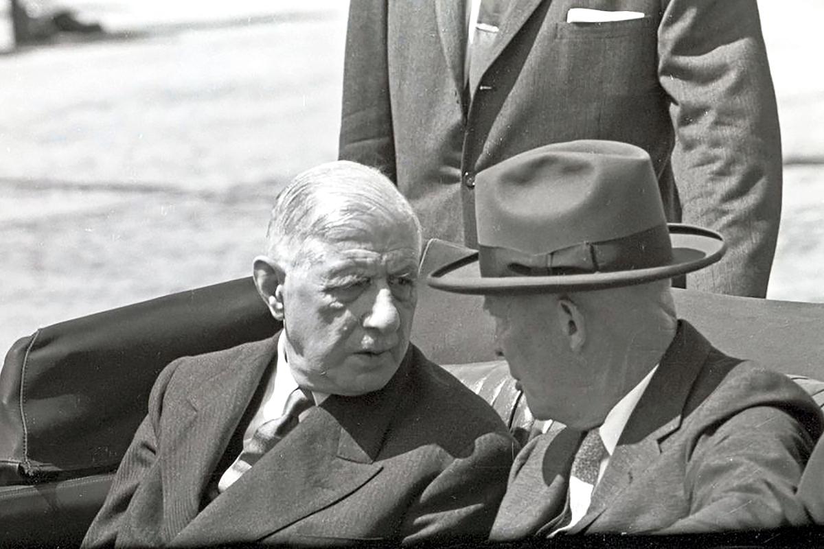 Charles de Gaulle Dwight Eisenhower