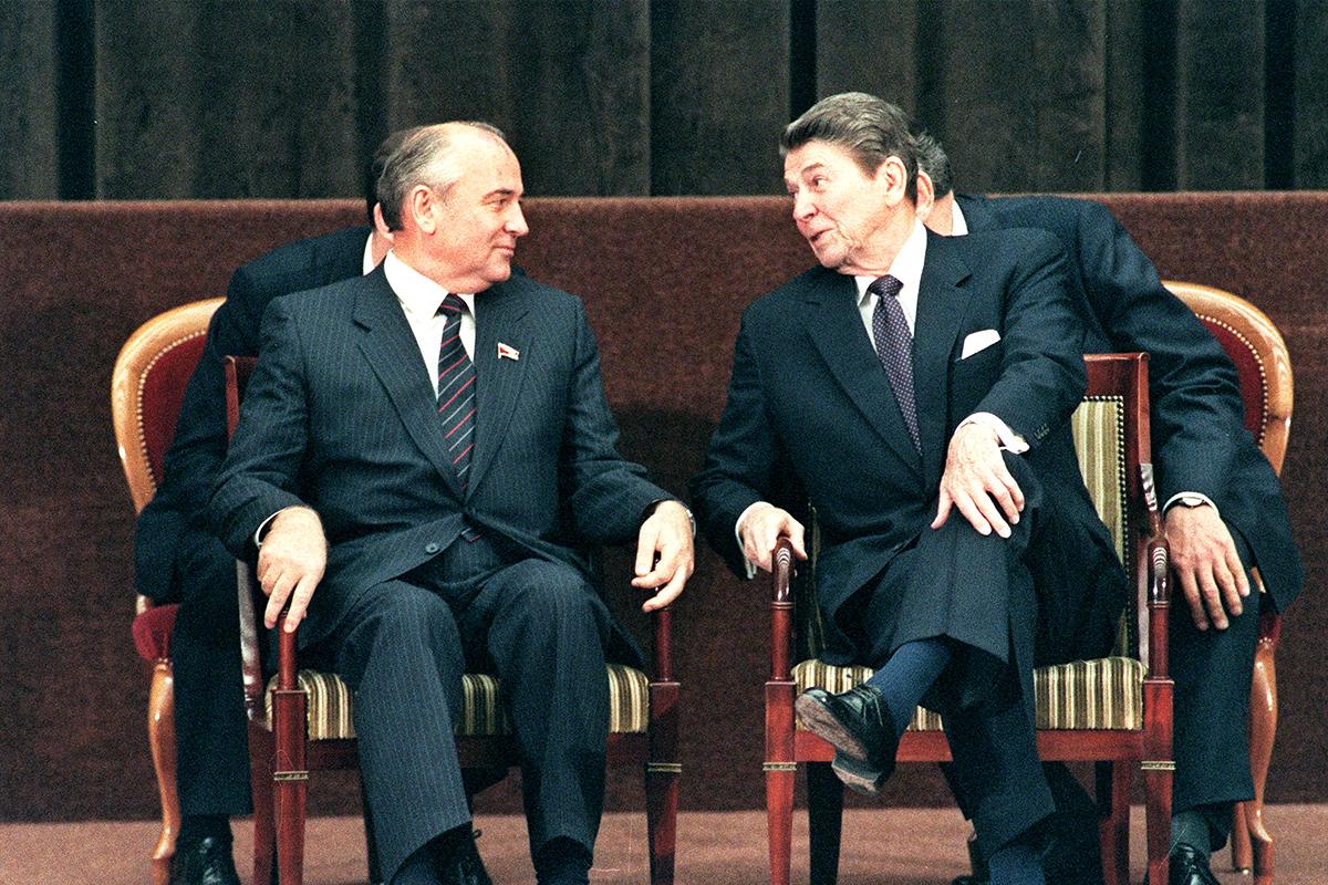 Mikhail Gorbachev Ronald Reagan