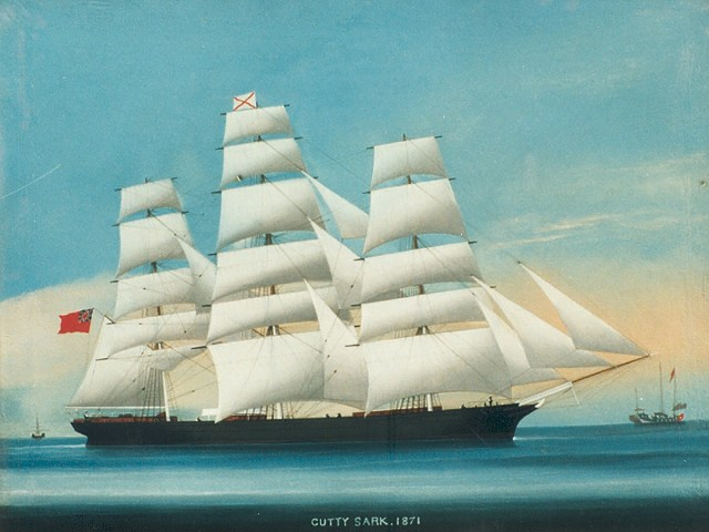 Cutty Sark painting