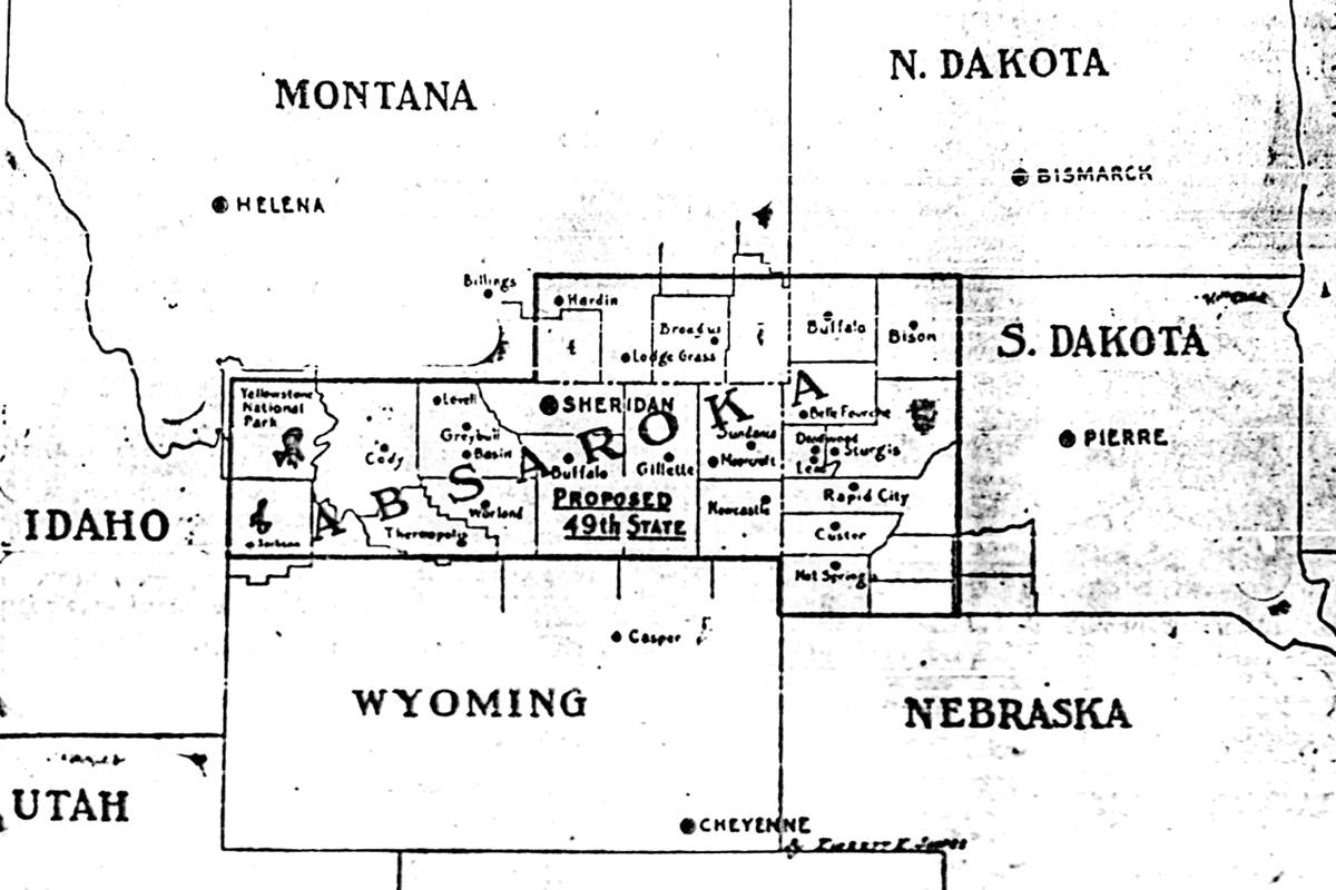 1939 Absaroka map