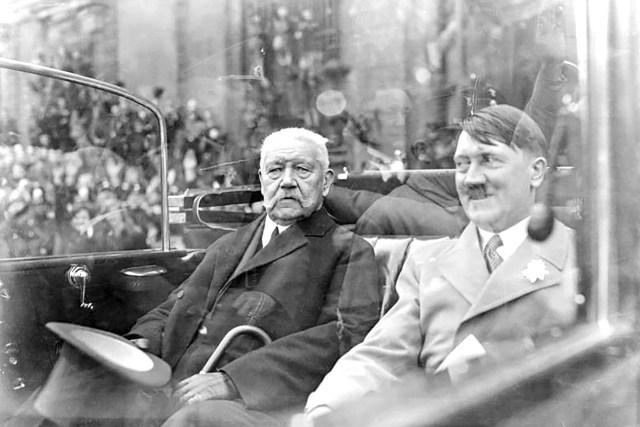 Paul von Hindenburg Adolf Hitler