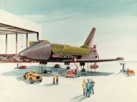 McDonnell Douglas space shuttle concept art