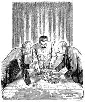 Franklin Roosevelt Joseph Stalin Winston Churchill cartoon