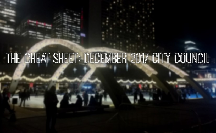 The Cheat Sheet: December 2017 City Council