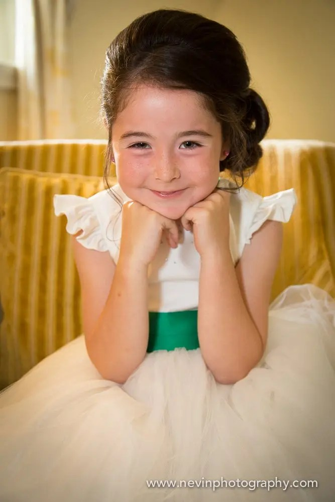 Flower-girl waiting to depart The Shelbourne Hotel