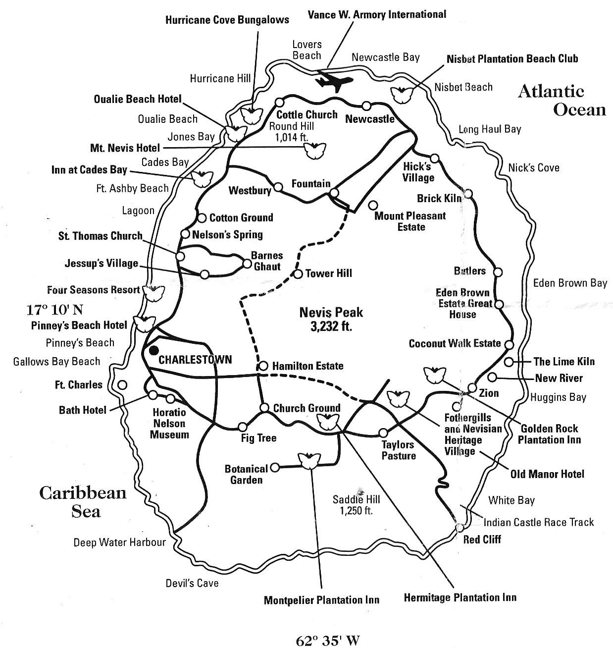 Location Of Nevis Bed And Breakfast